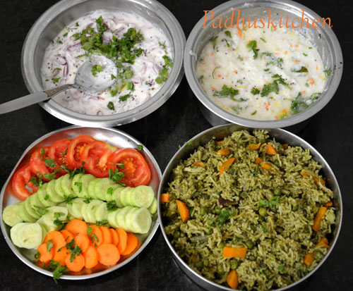 Easy Indian lunch menu