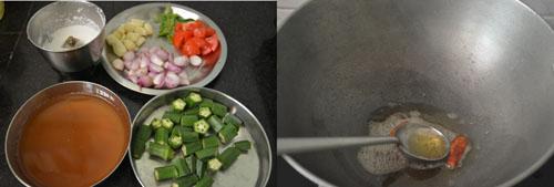 how to make vendakkai kuzhambu