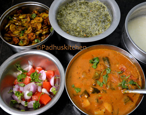 South Indian Vegetarian meals