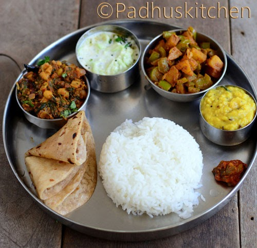 Indian Lunch Ideas-Easy Lunch Menu-Vegetarian Lunch