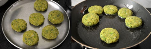 Spinach Green Peas Cutlet Recipe