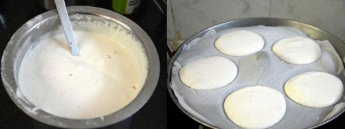 soft and spongy idlis batter in mixie