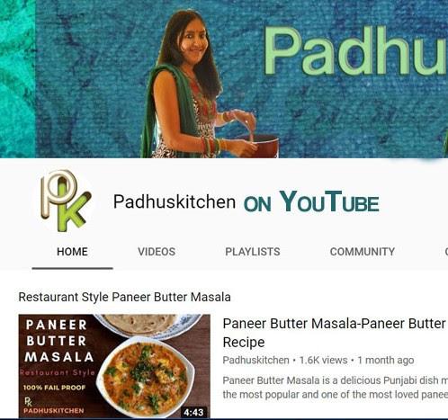 padhuskitchen on youtube