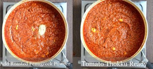 tomato thokku with garlic