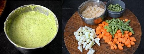 how to make vegetable sagu