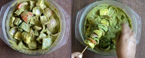 how to make hariyali paneer tikka