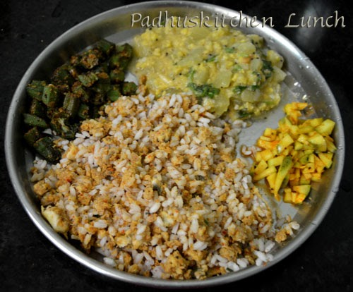 Simple South Indain Vegetarian lunch menu