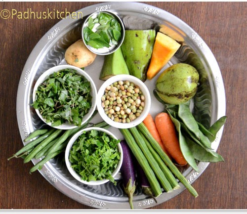 vegetables for Kootanchoru Recipe