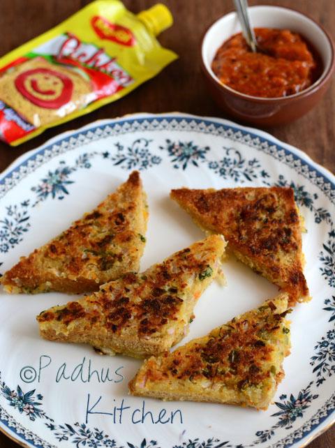 Bread rava toast-Bread semolina toast