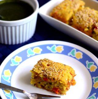 Eggless Savory Rava Cake