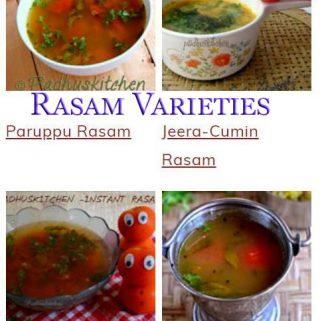 South Indian Rasam Varieties