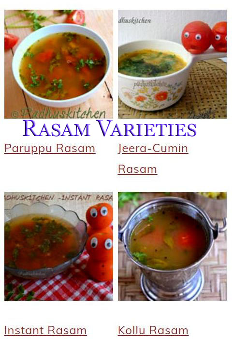 South Indian Rasam Varieties
