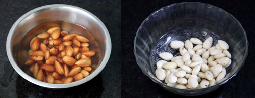 Almonds- soaked and peeled