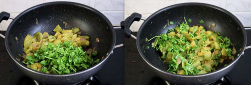 green tomato chutney with coriander leaves