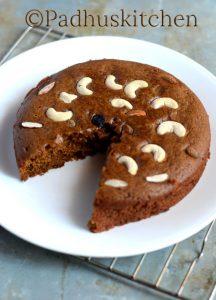 Wheat Jaggery Cake